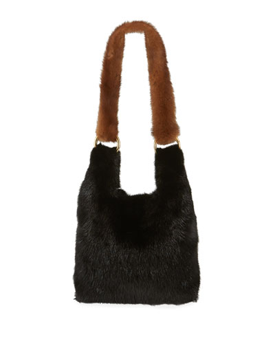 Furrissima Baby Mink Small Top Handle Bag