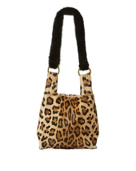 5860d80e96d7 Simonetta Ravizza Furrissima Baby Leopard-Print Small Handbag