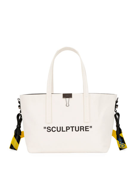 Off-White Canvas Sculpture Shopper Tote Bag