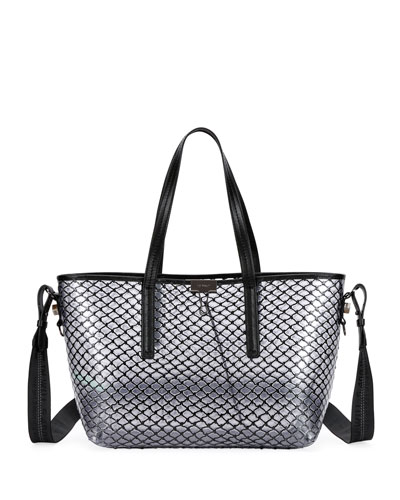 Pvc Net Per Tote Bag Black