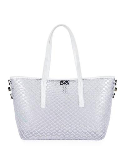 PVC Net Shopper Tote Bag, White