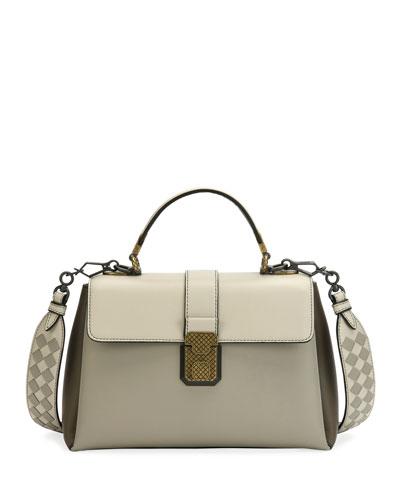 Piazza Medium Colorblock Leather Top-Handle Bag