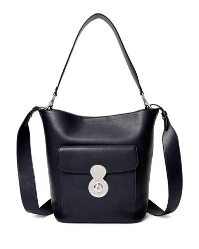 Smooth Leather Bucket Bag