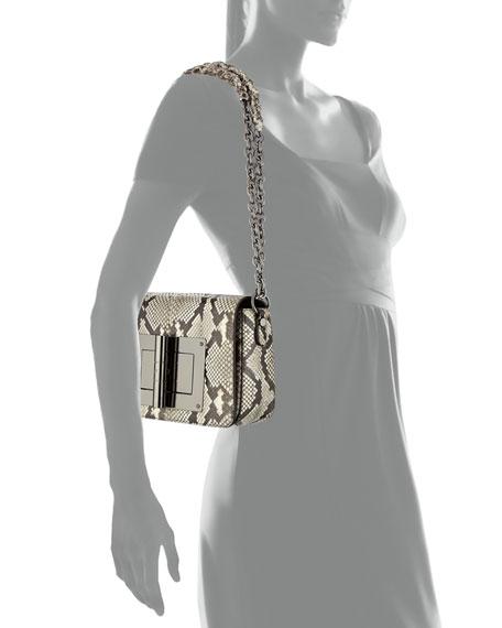 Natalia Large Python Shoulder Bag