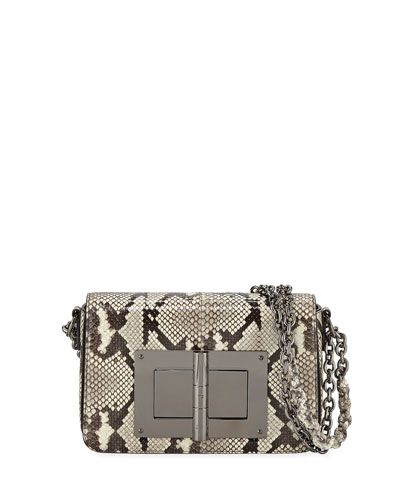 Natalia Large Python Shoulder Bag