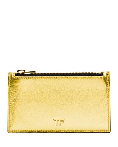 Laminated Large Zip Wallet