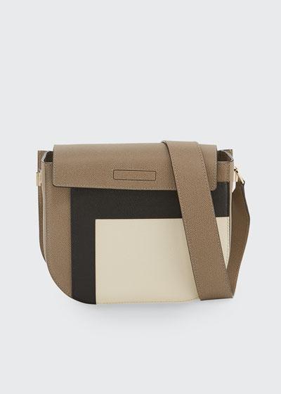 0d7747248c Colorblock Saffiano Twist Crossbody Bag Quick Look. Valextra