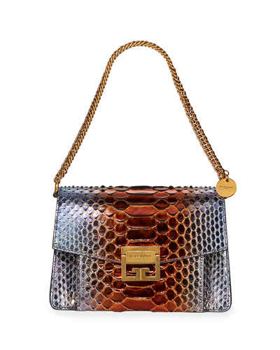 GV3 Small Metallic Python Shoulder Bag