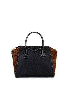 Antigona Small Leopard Satchel Bag by Givenchy