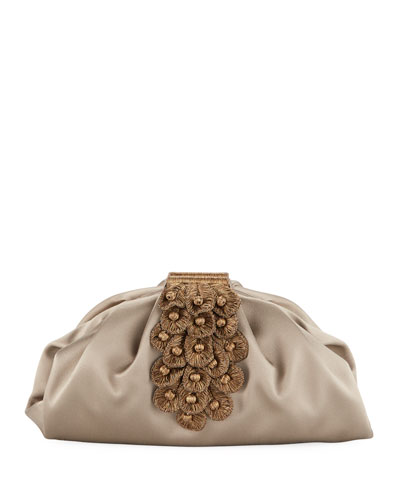 Zinnia Satin Clutch Bag