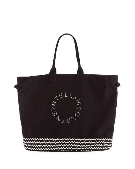 Stella McCartney Striped Logo Beach Tote Bag 2b59177664a34