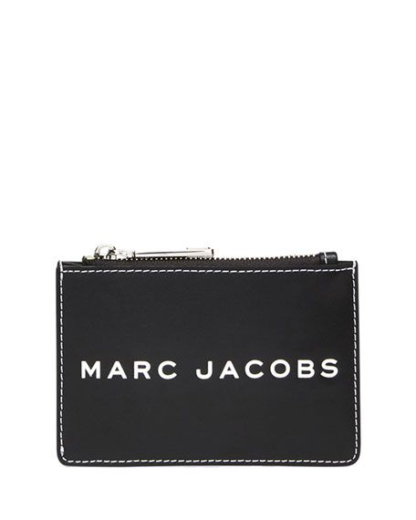 Marc Jacobs Zip Card Wallet with Barcode Logo
