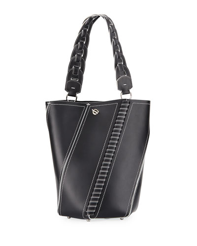 Hex Leather Medium Bucket Bag