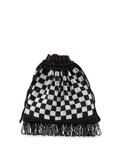 Beaded Gabbi Checkered Bag