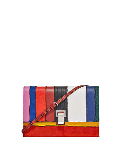 Small Colorful Patchwork Lunch Bag-with-a-Strap