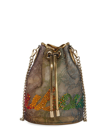 Christian Louboutin Marie Jane Lace Bucket Bag