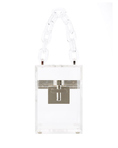 Alibi Box Transparent Top-Handle Bag
