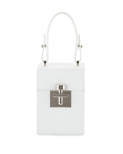 Alibi Box Leather/Suede Top-Handle Bag