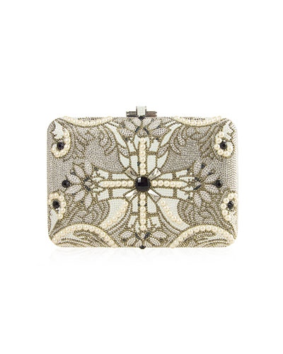 Slim Slide Pearly Clutch Bag