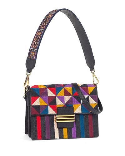 Rainbow Geometric Shoulder Bag