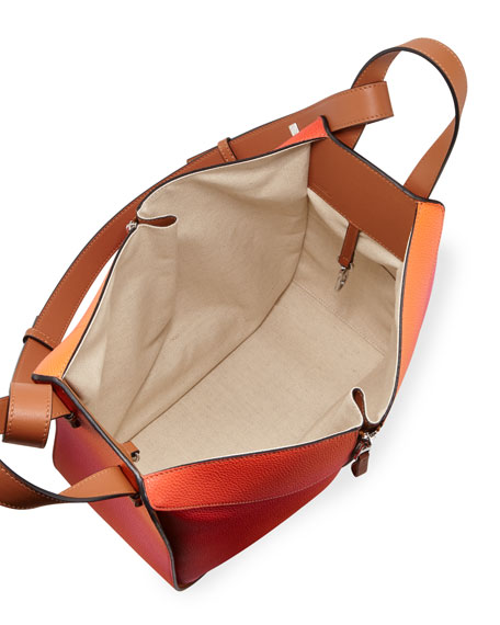 Hammock Color-Gradient Leather Shoulder Bag