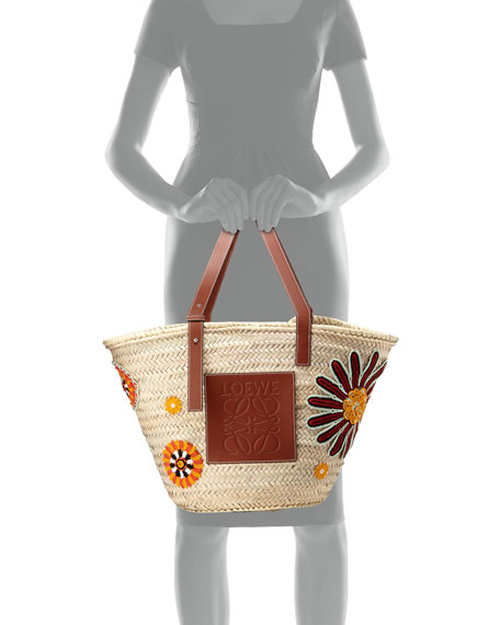 Flowers Large Woven Tote Bag