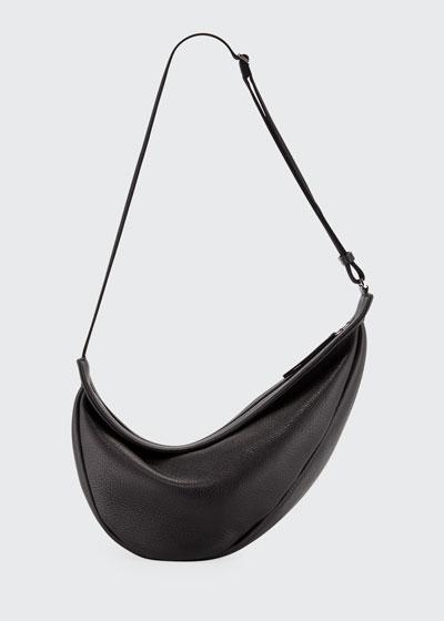 Slouchy Banana Large Leather Crossbody Bag