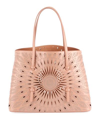Mina Medium Studded Lux Tote Bag