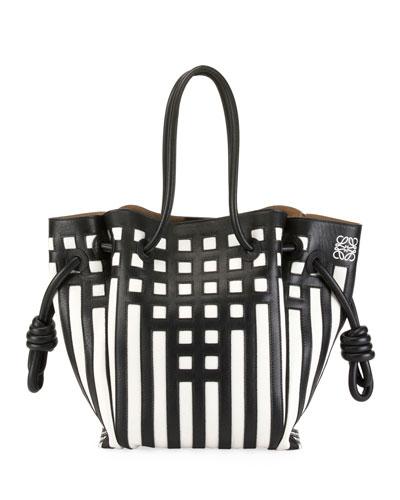 Flamenco Knot Grid Tote Bag