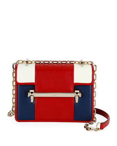 Uptown Small Colorblock Leather Shoulder Bag
