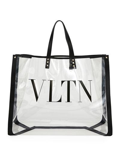 Grande Plage VLTN Logo Clear Polymeric Tote Bag