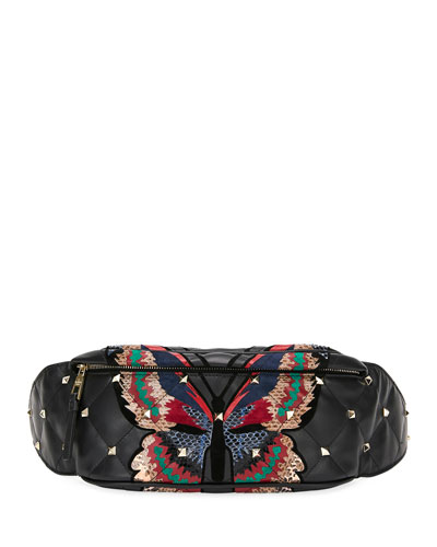 Boomstud Quilted Butterfly Belt Bag
