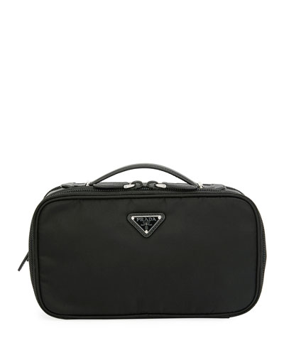 Small Nylon Beauty Bag With Contrast Lining