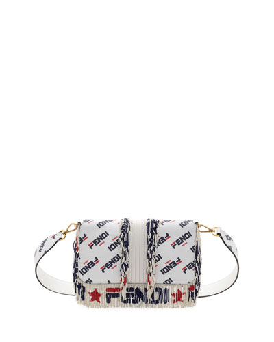 Baguette Fendi Mania Beaded Fringe Shoulder Bag