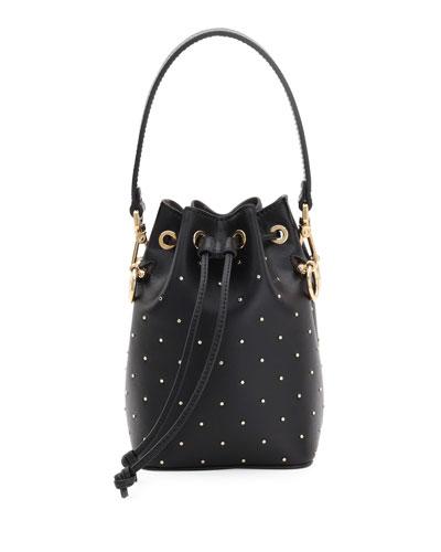 Mon Tresor Studded Leather Bucket Bag