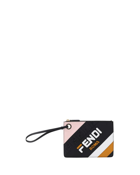9571331d3fc5 Fendi Fendi Mania Small Flat Clutch Bag