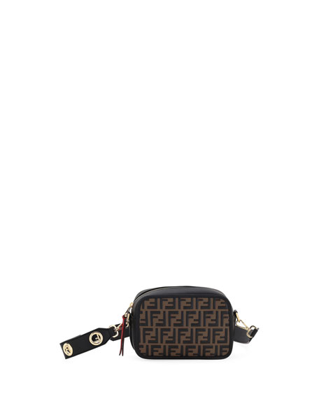 Fendi Cam FF Embossed Crossbody Bag 09e9473647