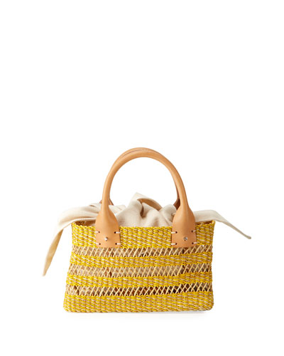 Carrie Woven Mini Tote Bag