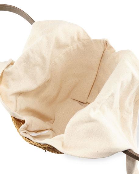 Woven Tina Basket Tote Bag