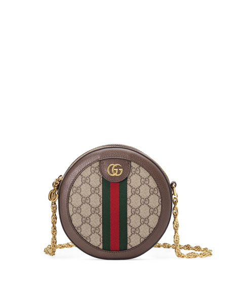25b5122bd24 Gucci Ophidia Mini GG Supreme Canvas Crossbody Bag