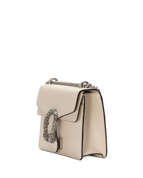 Dionysus Mini Leather Shoulder Bag with Crystal Tiger Spur
