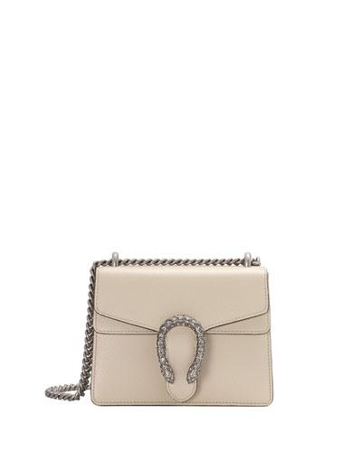 Dionysus Mini Leather Shoulder Bag with Crystal Tiger Spur 4574968a08155