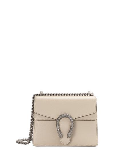 1f4c05f773 Dionysus Mini Leather Shoulder Bag with Crystal Tiger Spur