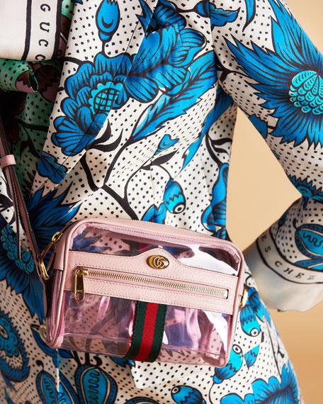 80e9701e5e Gucci Ophidia Mini See-Through PVC Camera Crossbody Bag