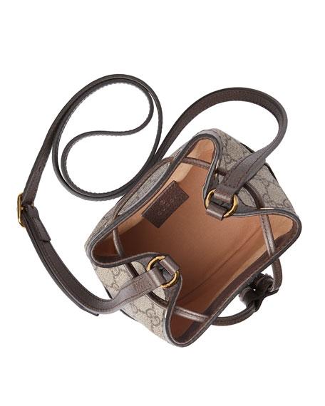 e904a380b04abe Gucci Ophidia Mini GG Supreme Canvas Bucket Bag