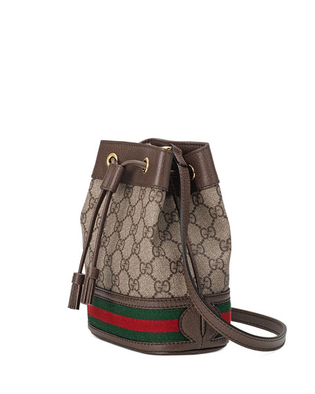 cd425410162c Gucci Ophidia Mini GG Supreme Canvas Bucket Bag