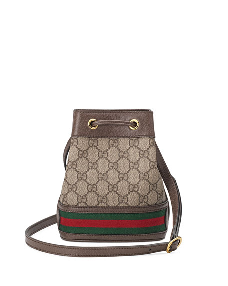 4c59177fda38 Gucci Ophidia Mini GG Supreme Canvas Bucket Bag