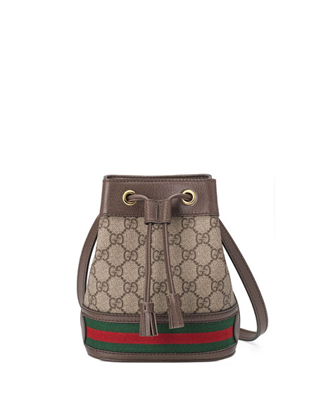 1885b1ea092 Gucci Ophidia Mini GG Supreme Canvas Bucket Bag