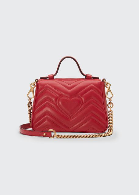 d9a7b6aa810c Gucci GG Marmont Mini Chevron Leather Satchel Bag