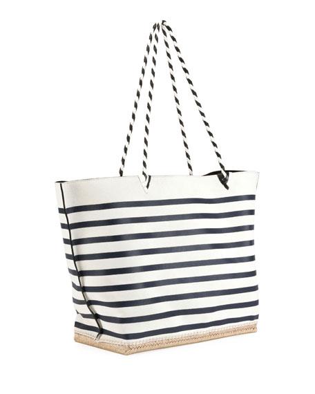 Espadrille Large Striped Tote Bag